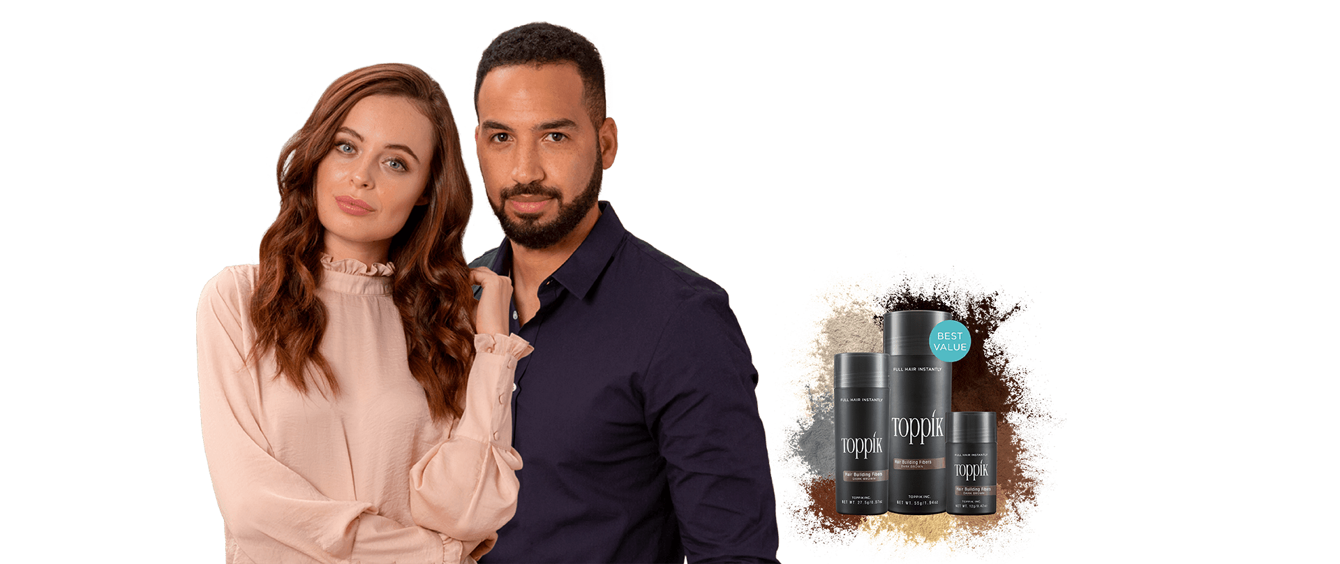 Hair fibres products that blend naturally